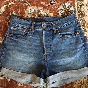 Levi's Cuff High-Waisted Shorts